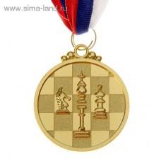Шахматная медаль круглая 5 см.