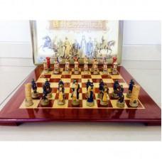 """Шахматы """"Крестоносцы и арабы"""" с деревянной доской складной"""