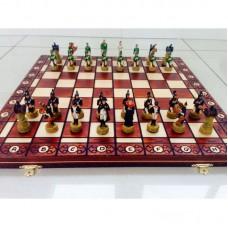 """Шахматы """"Наполеон и Кутузов"""" с деревянной доской складной"""