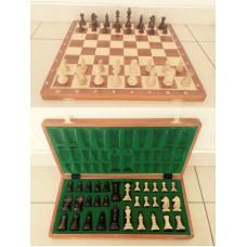Турнирные шахматы Стаунтон №6 (фигуры c утяжелителем) в комплекте со складной деревянной доской