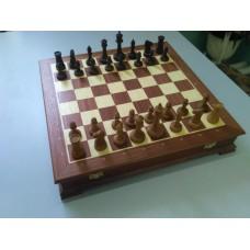 """Шахматы """"Стаунтон"""" в ларце, махагон"""