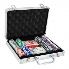 Набор для покера в кейсе, 200 фишек
