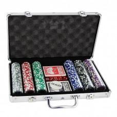 Набор для покера в кейсе, 300 фишек
