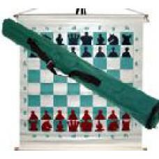 Шахматная доска демонстрационная виниловая магнитная с чехлом (70 х 70 см)