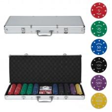 Набор для покера в кейсе, 500 фишек