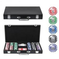 Набор для покера в деревянном кейсе, 300 фишек